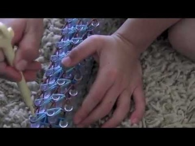 Rainbow Loom Double Sided Bracelet HOW TO Video by Cole