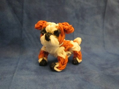 Rainbow Loom English Bulldog Charm. Dog or Puppy 3-D CAGNOLINO.CANE 3D Con Elastici