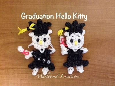 Rainbow Loom: Hello Kitty Graduation Doll - How To