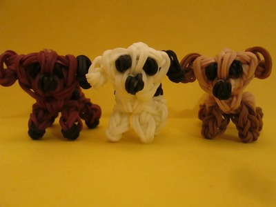 Rainbow Loom Mixed Breed Puppy and Dog Charm. 3-D Easy