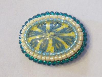 Sarubbest - Tutorial perline (Square Stitch): come incastonare un cabochon con perline