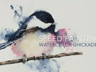 Speed Painting: Loose Watercolor Chickadee