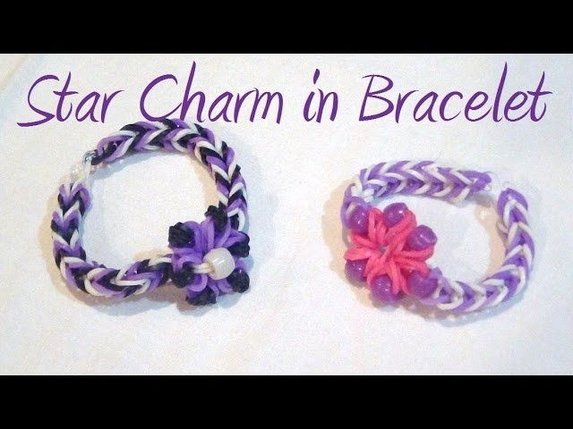 Star.Flower Charm Weaved in Loom Band Bracelet