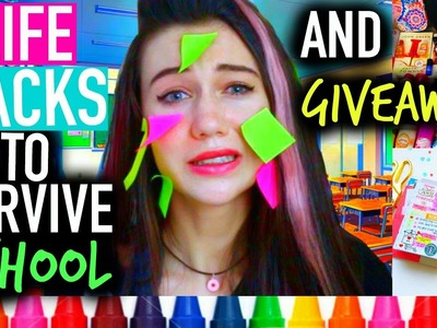 Back to School Survival: Life Hacks, Giveaway, DIY,  Locker Organization, Supplies and More!