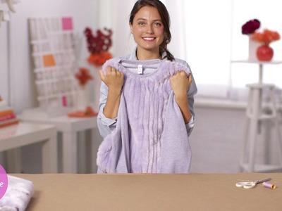 Cozy Faux-Fur Sweatshirt  - DIY Style - Martha Stewart