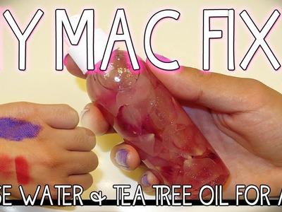 DIY CHEAP MAC FIX PLUS DUPE ROSE WATER ACNE SETTING SPRAY & MIXING MEDIUM !