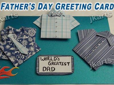 DIY Fathers Day Greeting Card JK Arts 241