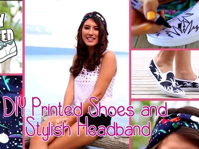 DIY Printed Shoes and Stylish Headband