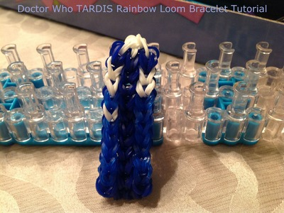 Doctor Who TARDIS  Rainbow Loom Bracelet Tutorial