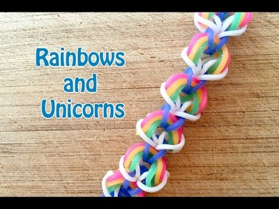 EASY Rainbow Loom Pattern: Rainbows and Unicorns No Loom