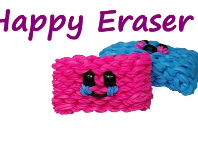 Happy Eraser Tutorial by feelinspiffy (Rainbow Loom)