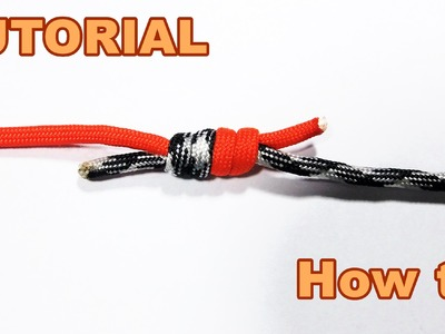 How to tie two pieces of Paracord. Rope together ( Tutorial )