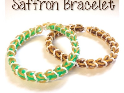 ***New*** Saffron Rainbow Loom Bracelet