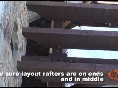 Pergola - DIY - 9 of 12 | Setting Roof Rafters & Shade Planks - Timber Pergola Kit Installation