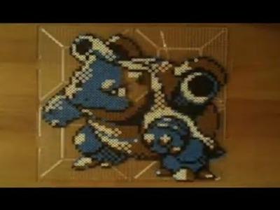 Perler Bead Speed Art: Pokemon Crystal - Blastoise