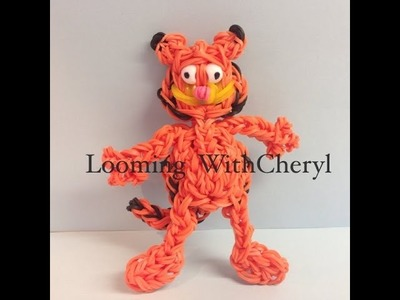 Rainbow Loom GARFIELD The Cat - Looming WithCheryl