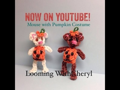 Rainbow Loom Mouse With Pumpkin Costume - Looming WithCheryl