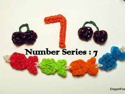 Rainbow Loom Number 7 Charm - How to - Number Series