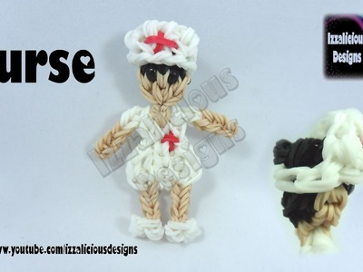 Rainbow Loom Nurse Action Figure.Charm  -© Izzalicious Designs 2014