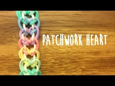 Rainbow Loom Patchwork Heart Tutorial 2 Pegs No Hook