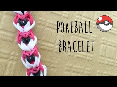 Rainbow Loom Pokemon Pokeball Bracelet Tutorial