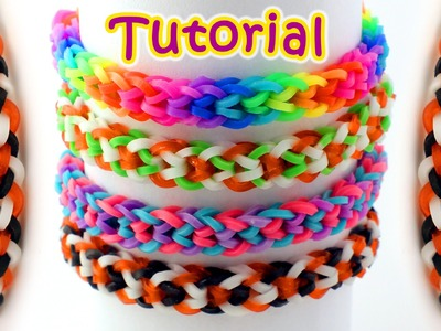 Rainbow Loom Tiny Hearts Bracelet Tutorial - How To Make An Inverted Fishtail Loom Band Bracelet