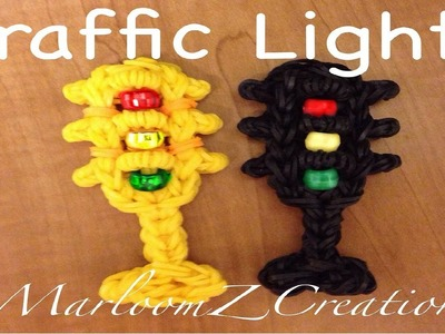 Rainbow Loom Traffic Light Charm - Original Design