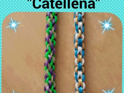 """Catenella"" Rainbow Loom Bracelet.How To Tutorial"