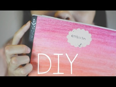 DIY: Cute Ombre Notebook | Back to school!