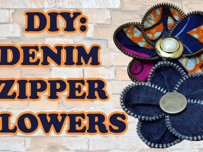 DIY: Recycled Denim and Zip Flower - Sustainable Patch