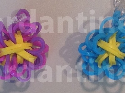 Flower Fun Charm XL Made on the Monster Tail - Rainbow Loom