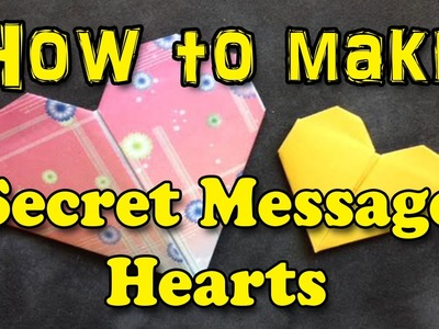How to fold a Secret Message Heart