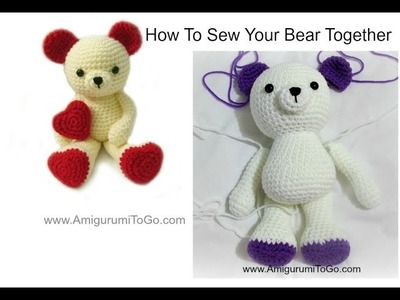How To Sew Amigurumi Valentine Bear Together