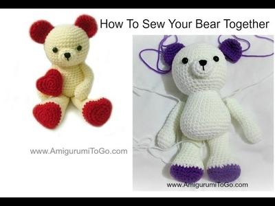 How To Sew Amigurumi Valentine Bear Together