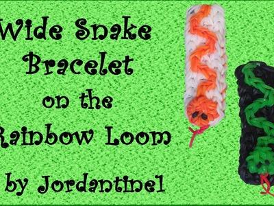New Wide Snake Bracelet - Rainbow Loom, Crazy Loom, Wonder Loom, Bandaloom