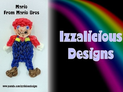 Rainbow Loom Mario from Mario Bros Action Figure.Charm - Gomitas