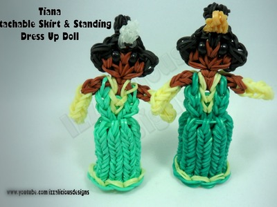 Rainbow Loom Princess Tiana Charm Action Figure - Detachable Skirt & Standing Doll - Gomitas