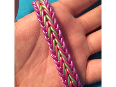 Single Cross Fishtail Rainbow Loom Bracelet (Tutorial)