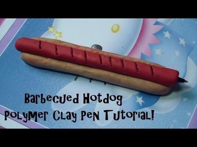 Barbecued Hotdog Polymer Clay Pen Tutorial!