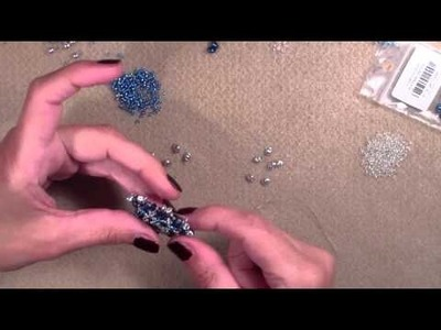 Beading4perfectionists : With Zina: Crossing Stars Pendant Part 2