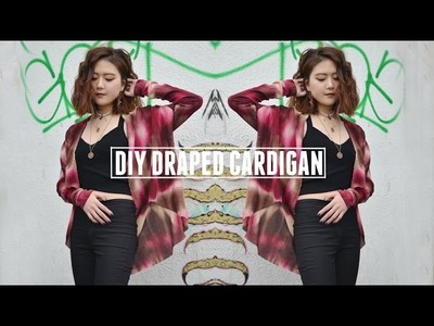 DIY Draped Cardigan