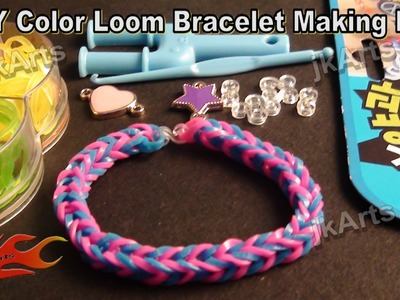 DIY Loom Band Kit Rubber band bracelet making kit and How to use - JK Arts 313