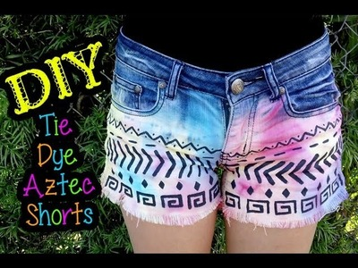 DIY Tie Dye Tribal Shorts (re-upload)