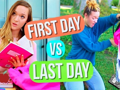 First Day of School vs Last Day of School! Alisha Marie