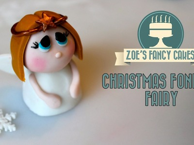 Fondant Christmas fairy topper angel how to cake decorate tutorial