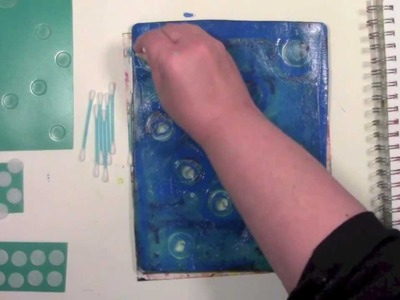 Gelli Printing with Circles on Homemade Tools with Carolyn Dube