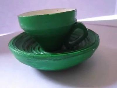 Handmade Paper Cup-Saucer