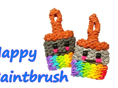 Happy Paintbrush Tutorial by feelinspiffy (Rainbow Loom)