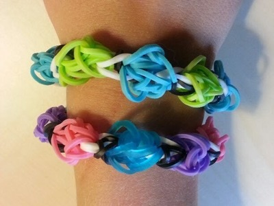 How to make RAINBOW LOOM TULIP BRACELET