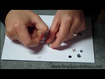 Jewelry making -- Technique 8: How to glue.fix pointed backs and flat backs into.to settings